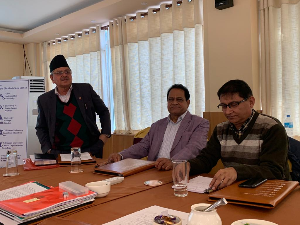 Meeting with TU Education faculty team