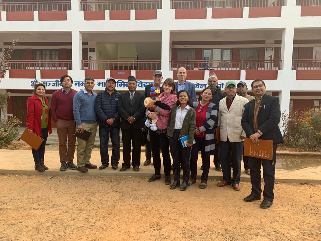 Photo of Project team visiting a school